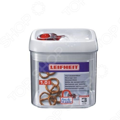 Контейнер для хранения Leifheit Fresh&amp;amp;Easy 31209Контейнеры для продуктов и ланч-боксы<br>Контейнер для хранения Leifheit Fresh Easy 31209 это отличная круглая чаша, которая сделана из пластика. Чаша идеально подходит для длительного хранения продуктов в холодильнике, обеспечивает 100 герметичность. Чаша выдерживает перепады температуры, можно использовать в морозильнике. Контейнер легко моется и не впитывает запах продуктов. Емкость штабелируется.<br>