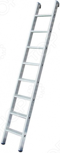 Приставная односекционная лестница универсальная и используется для бытового использования в квартире, на даче. Изготовлена из алюминия высокого качества, стойкого к коррозии, поэтому подходит для работы на улице. Устойчивость к скольжению обеспечена двухкомпонентными прорезиненными заглушками на концах профиля. Лестница снабжена специальным противоскользящим рельефом ступеней.