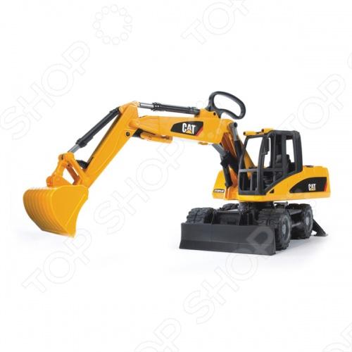 экскаватор bruder cat гусеничный 1 шт 58 см желтый 02 438 Экскаватор колесный Bruder CAT 02-445