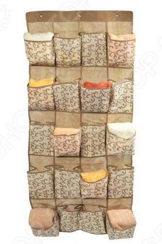 Чехол подвесной Hausmann AC305Коробки. Ящики. Подставки<br>Чехол подвесной Hausmann AC305 размером 56 136 см очень удобен в использовании. Подвесная секция для хранения мелочей состоит из 20 карманов. Прозрачный материал подойдет к любому интерьеру. Компактное хранение для дома и кемпинга. Легко чистится при помощи влажной ткани.<br>