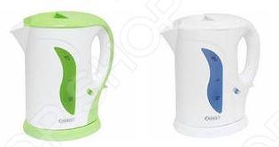 Чайник Energy E-207Чайники электрические<br>Удобный и простой в использовании чайник Energy E-207 изготовлен из термостойкого пластика. Благодаря мощности в 1000 Вт и нагревательному элементу открытого типа, быстро вскипятит воду объемом до 1,2 литров. На рынке бытовой техники этот прибор пользуется неизменной популярностью благодаря высокому качеству, безопасности и удобству в использовании. Модель оснащена индикатором включения выключения и шкалой уровня воды. Цоколь с центральным контактом позволяет поворачивать прибор на 360 . В целях безопасности имеется функция блокировки включения без воды и автоматического отключения при закипании. Благодаря стильному дизайну, чайник Energy E-207 впишется в любую современную кухню.<br>