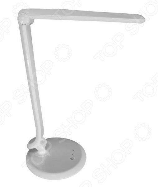 Светильник светодиодный CТАРТ СТ51 станет достойным украшением рабочего стола как дома, так и в офисе. Светильник изготовлен из высокопрочного ABS-пластика, а источник света светоиды не требуется заменять долгое время. Например, если вы будете включать лампу на 2 часа в день, то она прослужит вам практически 40 лет без замены светоидов. В светильнике можно выбрать один из нескольких уровней яркости.