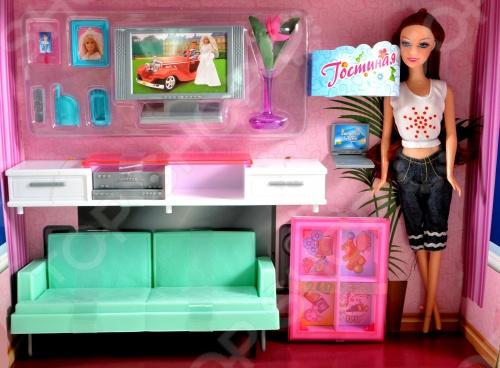 Набор мебели с куклой 1 TOY «Гостиная с телевизором»