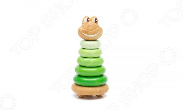 Игрушка-пирамидка Томик «Лягушонок» Игрушка-пирамидка Томик «Лягушонок» /