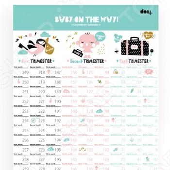 Календарь для беременных Doiy Baby on the way