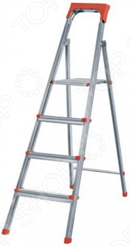 Лестница-стремянка стальная очень мобильна благодаря своим небольшим размерам. Противоскользящая поверхность опорной площадки обеспечивает дополнительную надежность и безопасность при работе на стремянке. Может использоваться в быту, на даче или дома.