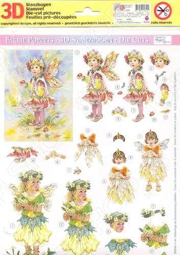 фото Аппликация вырубная для объемных рисунков Reddy Creative Cards «Маленькие феи» №6, купить, цена