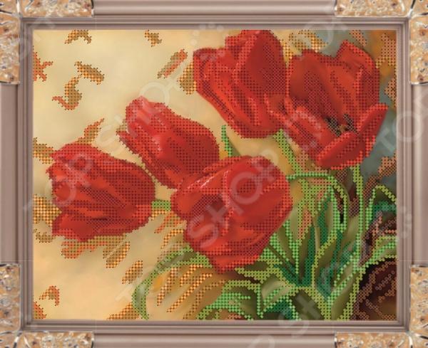 Набор для вышивания бисером Светлица «Тюльпаны» светлица набор для вышивания бисером мечеть бисер чехия 1068839