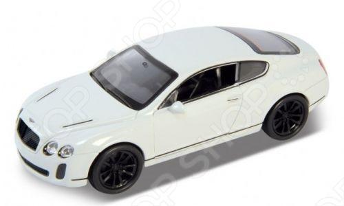 Модель машины 1:34-39 Welly Bentley Continental Supersports. В ассортиментеМодели авто<br>Модель машины 1:34-39 Welly Bentley Continental Supersports представляет собой коллекционную модель, являющуюся точной копией настоящего автомобиля. Большая достоверность и похожесть настоящего транспортного средства обеспечивается наличием всех деталей, которые есть в реальной жизни: зеркалами заднего вида, выхлопной трубой, фарами, открывающимися дверями. Она будет прекрасным подарком для вашего малыша, так как это не только игрушка, но и полезная вещь, во время игры с которой у ребенка развивается мелкая моторика рук, воображение и фантазия.<br>