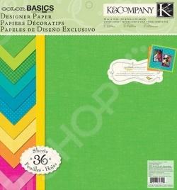 Набор бумаги для скрапбукинга K&amp;amp;Company «Основное»Бумага и производные<br>Набор бумаги для скрапбукинга K Company Основное поможет вам создавать высокохудожественные обложки для альбомов, прекрасные открытки и подарочные коробки, картины, аппликации любые поделки, связанные с бумагой, которые подскажет вам фантазия. Это возможность не только украсить свой дом, но и приготовить своими руками оригинальные и запоминающиеся подарки. Набор Основное удобен и безопасен в работе: он не содержит лигнина и кислот. в набор входит 36 листов размером 31х31 см. Выбирайте понравившийся рисунок, фантазируйте и создавайте вещи ручной работы. Желаем творческих успехов!<br>