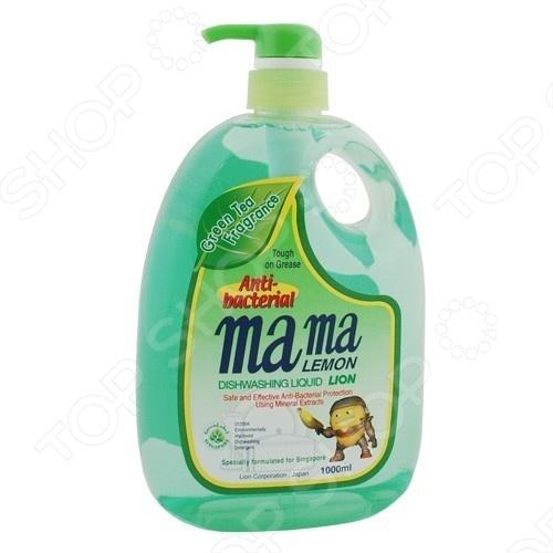 Гель для мытья посуды и детских принадлежностей концентрированный MAMA LEMON с ароматом зеленого чая гель для мытья посуды и детских принадлежностей mama lemon концентрат антибактериальный 1 л