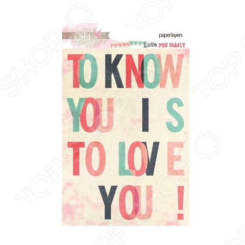 фото Карточки Glitz Design Love you madly, купить, цена
