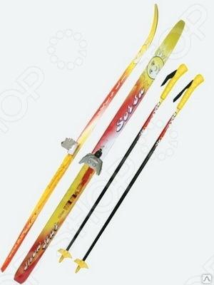 Комплект лыжный с палками Sorsu Snowstar. Система крепления: 75 мм цикл лыжи детские вираж спорт с палками цикл