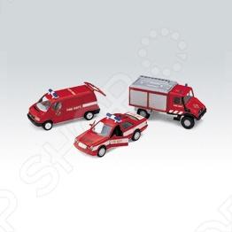 Набор машинок игрушечных Welly «Пожарная служба» 99610-3C welly welly набор служба спасения скорая помощь 4 штуки