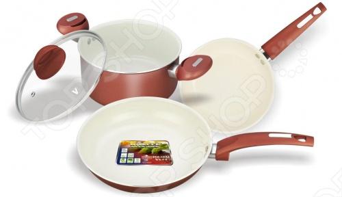 Набор кухонной посуды c внутренним керамическим покрытием Vitesse VS-2216. В ассортименте