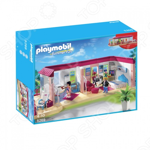 Отель:Номер люкс Playmobil 5269pm станет великолепной игрушкой для ваших детей, которая доставит им огромное количество радостных минут и мгновений. Вас и всех окружающих, без сомнения, порадуют весёлые детские возгласы, во время интересной игры, а яркие, разнообразные цвета будут способствовать развитию у малыша чувства восприятия звука и цвета, и, что немаловажно, развитию моторики, координации движения, логику малыша. Позвольте ребёнку создать свой мир и наполнить его именно теми персонажами и элементами, которые ему больше всего нравятся. Подарите малышу радость игры в отель.