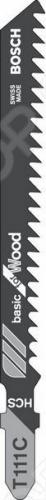 Набор пилок для лобзика Bosch T 111 С HCS