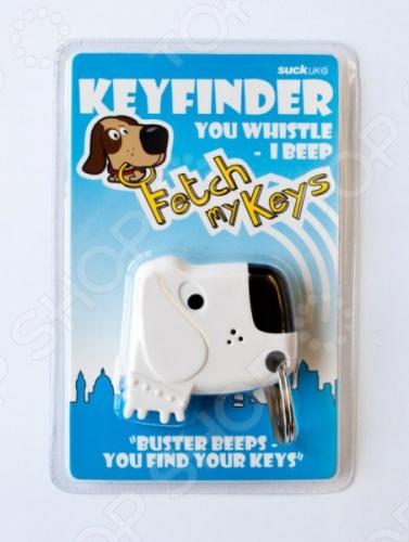 С лающим брелоком-искателем для ключей Suck UK Fetch my Keys ваши ключи всегда будут на месте и в момент выхода из дома вы не начнете судорожно метаться по квартире в их поисках. Брелок выполнен в виде забавной собачки из высококачественного пластика и металла. Вам достаточно громко закричать или хлопнуть в ладоши и брелок начнет издавать звуковой сигнал, по которому вы быстро определите местонахождение ключей. Модель работает от двух батареек типа LR41, входящих в комплект поставки.