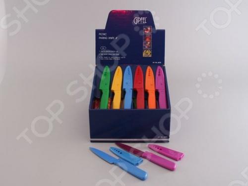 Набор ножей с чехлами Gipfel PICNIC 6835 набор ножей calve с чехлами цвет зеленый коричневый фиолетовый 3 шт cl 3126