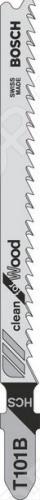 Набор пилок для лобзика Bosch T 101 B HCS набор пилок для лобзика bosch t 101 br 2608630014