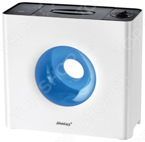 Увлажнитель воздуха Steba LB 6 для жилых помещений. Незаменим для квартир с сухим микроклиматом. Можно настроить интенсивность выброса пара на свой вкус. Интегрирован фильтр предварительной очистки воздуха. Уровень шума не превышает 35 децибел. Следует отметить, что прибор имеет стильный Hi-Tech дизайн и прекрасно впишется в интерьер современной квартиры. Есть подсветка. Доступны разные цвета оформления модели.