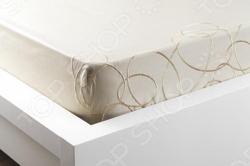 Фото Комплект постельного белья Dormeo Elipse. 2-спальный. Цвет: золотистый