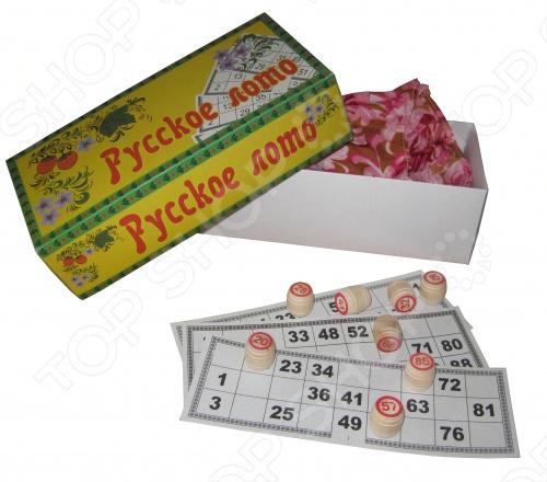 Русское лото является игрой для тех, кто любит и ценит совместное времяпрепровождение в семейном кругу или с друзьями. Также стать отличным развлечением, например, если вы отправляетесь к родителям. Игра Русское лото полностью соответствует современными стандартам и русским традициям. В наборе вы обнаружите всё для игры: бочонки, мешочек с красивым узором, карточки.