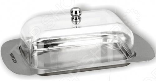 Масленка Vitesse VS-8616 станет не только стильным украшением, но и подчеркнёт ваш вкус. Маслёнка выполнена в стильном дизайне из стали маркировки 18 10 и отполирована до блеска, а крышка выполнена из пластика. Маслёнку можно мыть в посудомоечной машине.