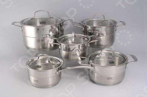 Набор кухонной посуды Gipfel GALA 1539 кастрюля 5 л gipfel smart 1556