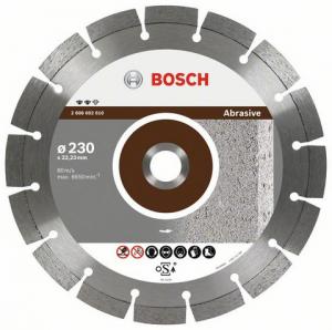 Диск отрезной алмазный для угловых шлифмашин Bosch Expert for Abrasive 2608602606