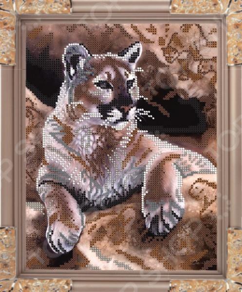 Набор для вышивания бисером Светлица «Тигр». Уцененный товар