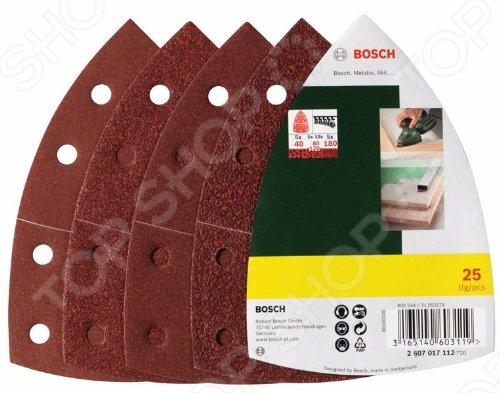Набор листов шлифовальных Bosch 2607017112 коническое шлифкольцо 30 мм зерно 120 bosch 1600a00158