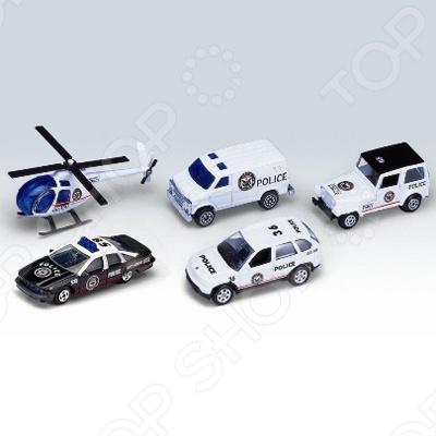Набор машинок игрушечных Welly «Полицейская команда» команда мечты