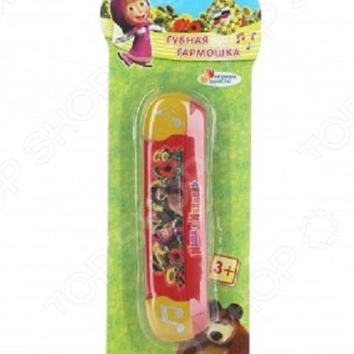 фото Губная гармошка игрушечная Играем Вместе Маша и медведь, Игрушечные музыкальные инструменты