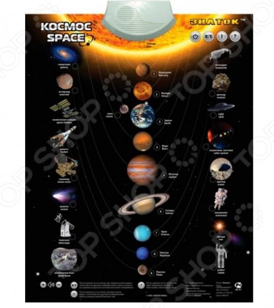 Плакат электронный звуковой Знаток «Космос» знаток знаток электронный звуковой плакат говорящая музыкальная азбука без ручки