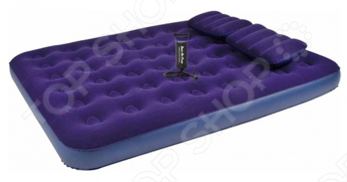 Кровать надувная Relax Flocked air bed queen with 2 pillows&handpump queen queen on air 2 cd