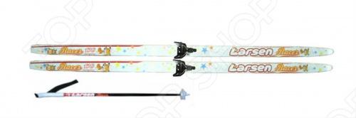Лыжный комплект Larsen создан специально для юношей, которые только начинают осваивать данный вид зимнего спорта. В основном, комплект используется на лесных прогулках, уроках физкультуры в школе и на специально оборудованных для этого местах. Геометрия лыж: 50 50 50 мм. Крепление: NN75.