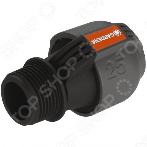 Соединитель с наружной резьбой Gardena 2763 клапан для полива gardena 1278