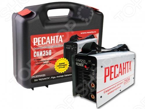 цена на Аппарат сварочный инверторный в кейсе Ресанта САИ 250