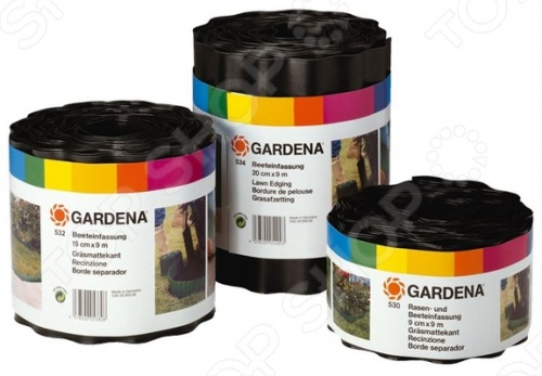 Бордюр садовый Gardena 53 замечательно подходит для оригинального оформления вашего сада, двора или любой другой территории. С его помощью вам удастся аккуратно оформить края грядок, газонов, тем самым сделав их намного аккуратнее. Кроме того, используя такой бордюр вам под силу создавать многоуровневые композиции, которые, несомненно, выделят вас и позволят реализовать все творческие идеи и задумки в ландшафтном дизайне.