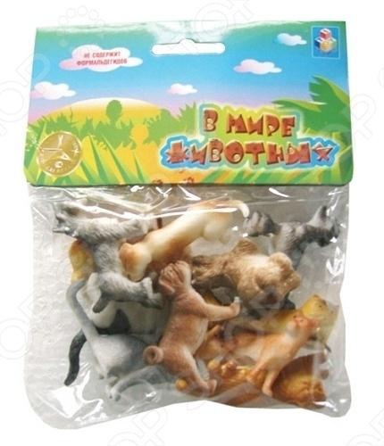 Набор игрушечных собак и кошек 1 TOY Т50535