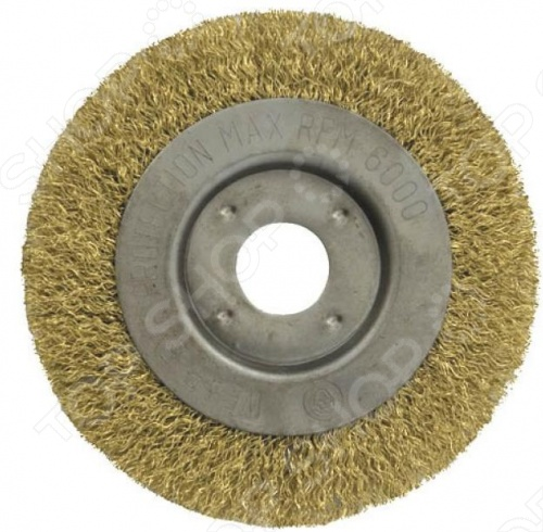 Корщетка-колесо FIT используется для шлифовальных и отрезных машин. Посадочный диаметр 22 мм. Материал: стальная латунированная волнистая проволока.