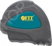 Рулетка с автостопом FIT ФьюжнРулетки. Мерные ленты<br>Рулетка с автостопом FIT Фьюжн незаменимый инструмент для выполнения измерительных работ. Изделие выполнено в пластиковом прорезиненном корпусе, что предотвращает скольжение рулетки в руках.<br>