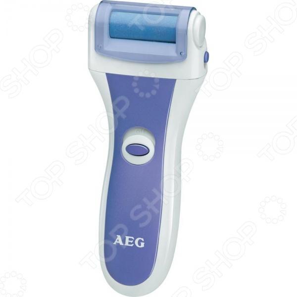 Электропемза AEG PHE 5642 это машинка для педикюра и удаления мозолей. Предназначенная для домашнего использования, она работает от батареек типа АА. В комплекте с электропемзой находятся 4 сменных ролика различного цвета каждый для индивидуального использования. Таким образом, пользоваться прибором могут до 4 человек. Быстрая замена с помощью простой системы защелкивания. Специальное покрытие ролика безболезненно удаляет старую ороговевшую кожу и стимулирует рост новой. Прибор можно использовать для смягчения старой кожи на руках, ногах и локтях. Ручка эргономичной формы удобно лежит в ладони. Ролик вращается на 360 со скоростью 30 оборотов в секунду. Прибор подходит для использования больными сахарным диабетом после консультации с врачом.