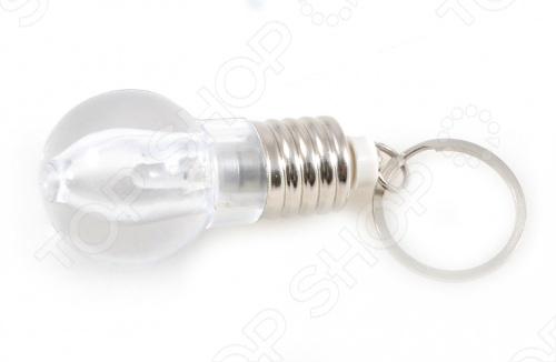 Фонарик-брелок «Лампочка накаливания»Брелоки<br>Фонарик-брелок Лампочка накаливания достаточно его повесить на ключи - и больше не придется искать в темноте замочную скважину, включать подсветку мобильного телефона или специально заготовленный для этой цели фонарик. Брелок включается и выключается по вашему желанию простым нажатием кнопки. Как маленький светлячок, он освещает путь в темноте, переливаясь при этом различными цветами. Данный брелок сделан из пластика и металла, диаметром лампочки в 30 мм. Подарите себе и или своим любимым полезную и приятную мелочь, как фонарик-брелок Лампочка накаливания !<br>