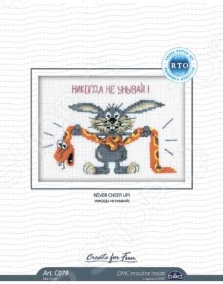 Набор для вышивания крестиком RTO «Никогда не унывай!» смартфон htc u ultra 64 гб белый 99halu071 00