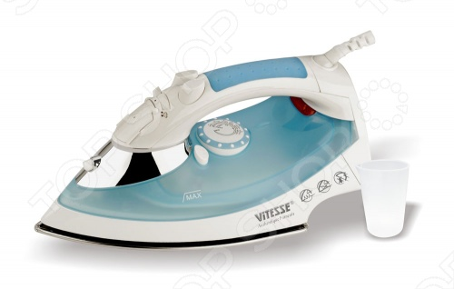 Утюг Vitesse VS-673Утюги<br>С помощью утюга Vitesse VS-673 можно быстро и эффективно погладить вещи из разного типа ткани благодаря возможности регулировки температуры и подачи пара. Им можно отпаривать как в горизонтальном, так и в вертикальном положении. Также есть шарнирное крепление шнура.<br>