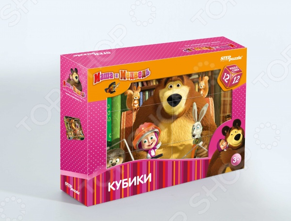 Кубики Step Puzzle «Маша и Медведь» 87134 набор step puzzle пластиковых кубиков анимаккорд 9шт маша и медведь