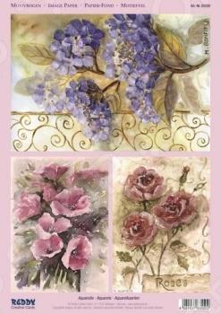 фото Аппликация вырубная для объемных рисунков Reddy Creative Cards «Акварель», купить, цена