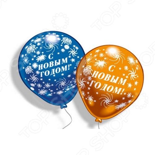 Шарики надувные Everts «С Новым Годом!» веревка в всех поздравим с новым годом